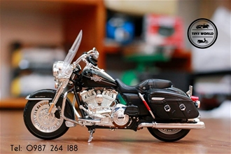 HARLEY DAVIDSON FLHRC ROAD KING CLASSIC 2013 (XANH) 1:12 MAISTO
