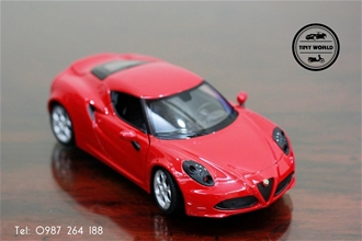 ALFA ROMEO 4C (ĐỎ) 1:24 WELLY