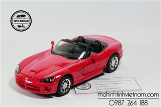 DODGE VIPER SRT-10 (ĐỎ) 1:24 WELLY