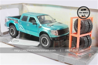 FORD F-150 RAPTOR PICKUP (XANH) 1:24 JADA