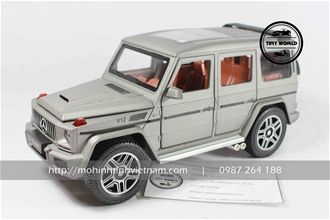 MERCEDES-BENZ G63 (XÁM) 1:24 DIECAST MODEL
