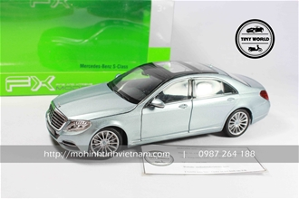 MERCEDES-BENZ S-CLASS (XANH) 1:24 WELLY