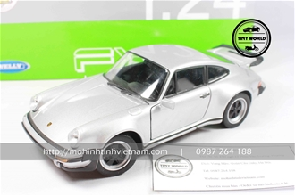 PORSCHE 911 TURBO 3.0 1974 (BẠC) 1:24 WELLY FX
