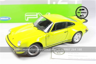 PORSCHE 911 TURBO 3.0 1974 (XANH) 1:24 WELLY FX