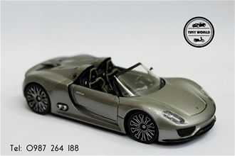 PORSCHE 918 SPYDER (XÁM) 1:24 WELLY