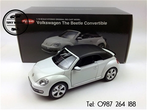 VOLKSWAGEN THE BEETLE CONVERTIBLE (TRẮNG SỮA) 1/18 KYOSHO