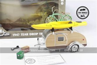 1947 TEAR DROP TRAILER (XANH) 1:24 GREENLIGHT